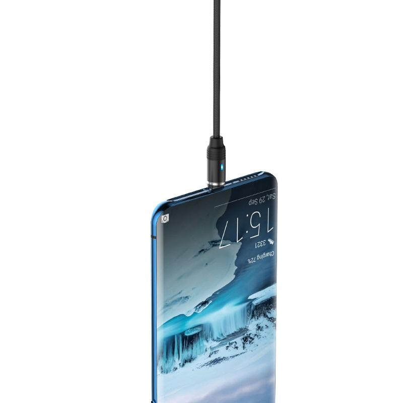 hoco u76 fresh магнитный зарядный кабель для type c прочный