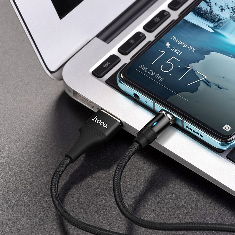 hoco u76 fresh магнитный зарядный кабель для type c передача