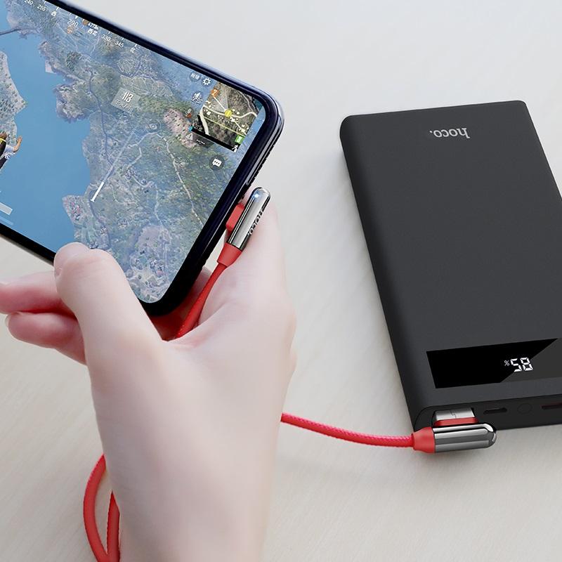 浩酷 u77 优倍弯头充电数据线 lightning 设计