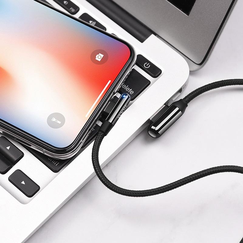 hoco u77 excellent elbow зарядный дата кабель для lightning обзор