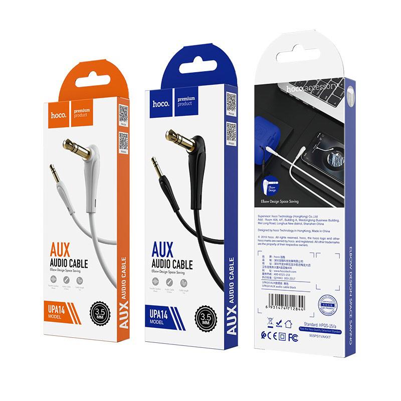 hoco upa14 aux аудио кабель упаковка 1м