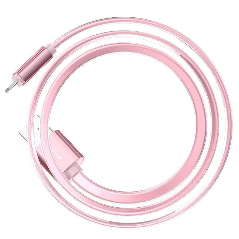 hoco upl12 plus smart light зарядный дата кабель lightning гибкий