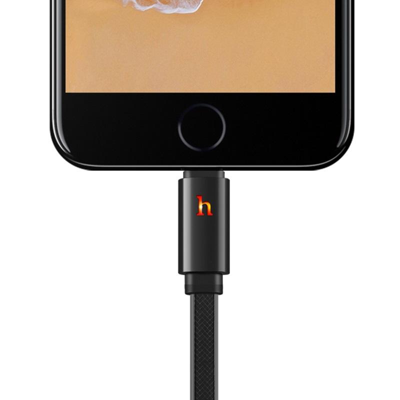 hoco upl12 plus smart light зарядный дата кабель lightning индикатор
