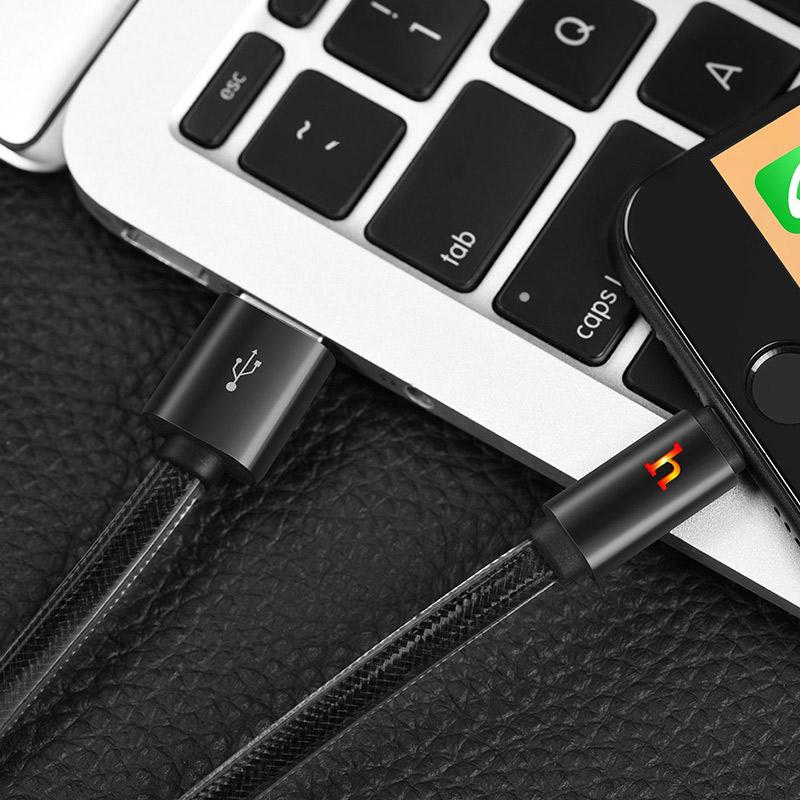 hoco upl12 plus smart light зарядный дата кабель lightning интерьер черный