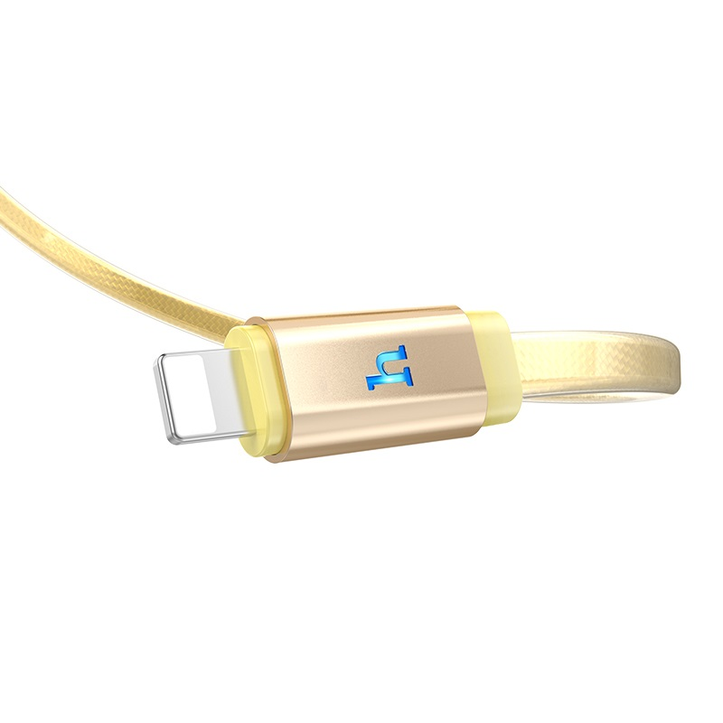 hoco upl12 plus smart light jelly braided charging data cable for lightning logo