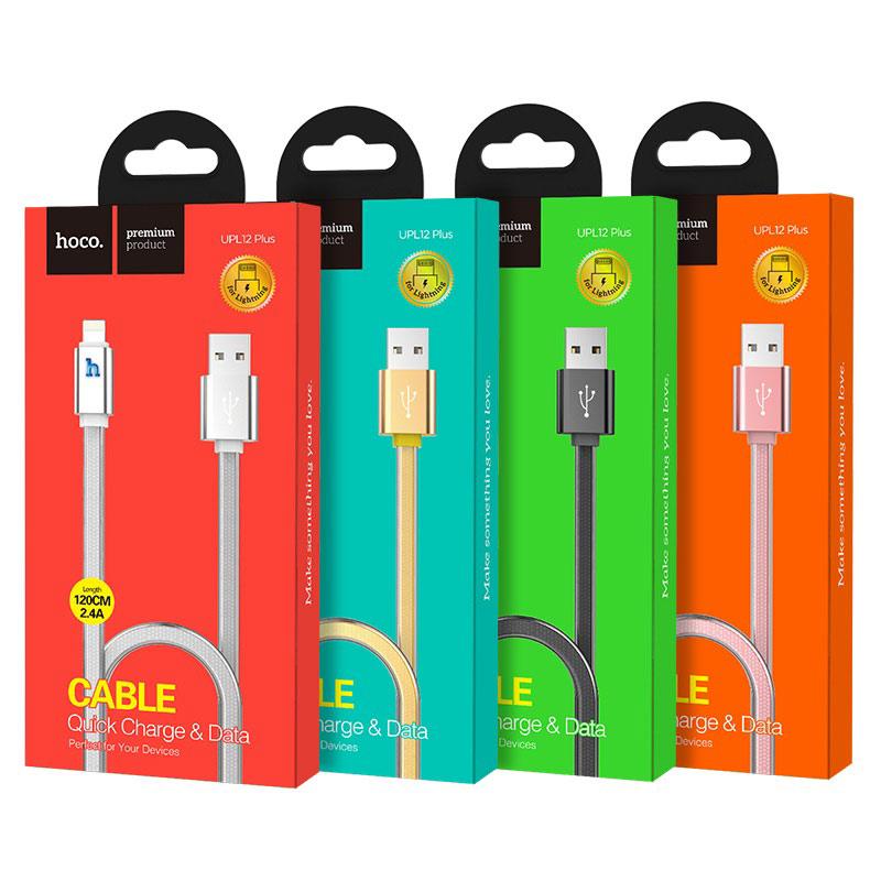 hoco upl12 plus smart light зарядный дата кабель lightning упаковка