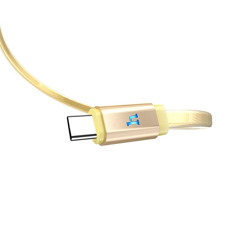 hoco upl12 plus зарядный дата кабель для type c с индикатором логотип