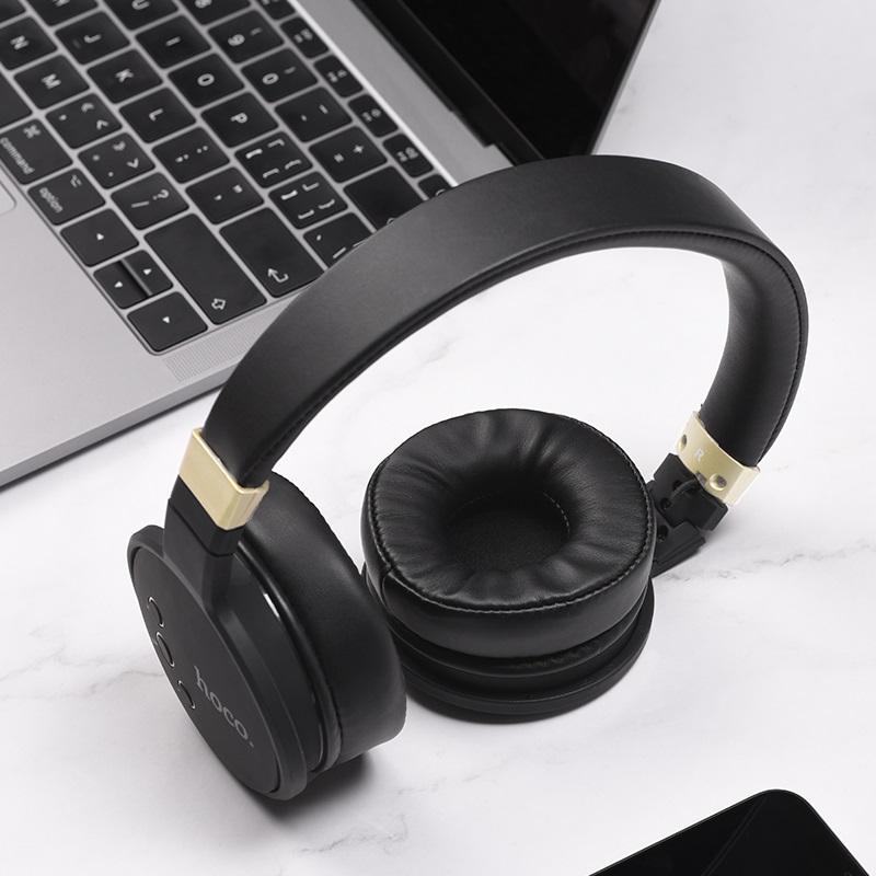hoco w26 enjoyment wireless headphones interior black