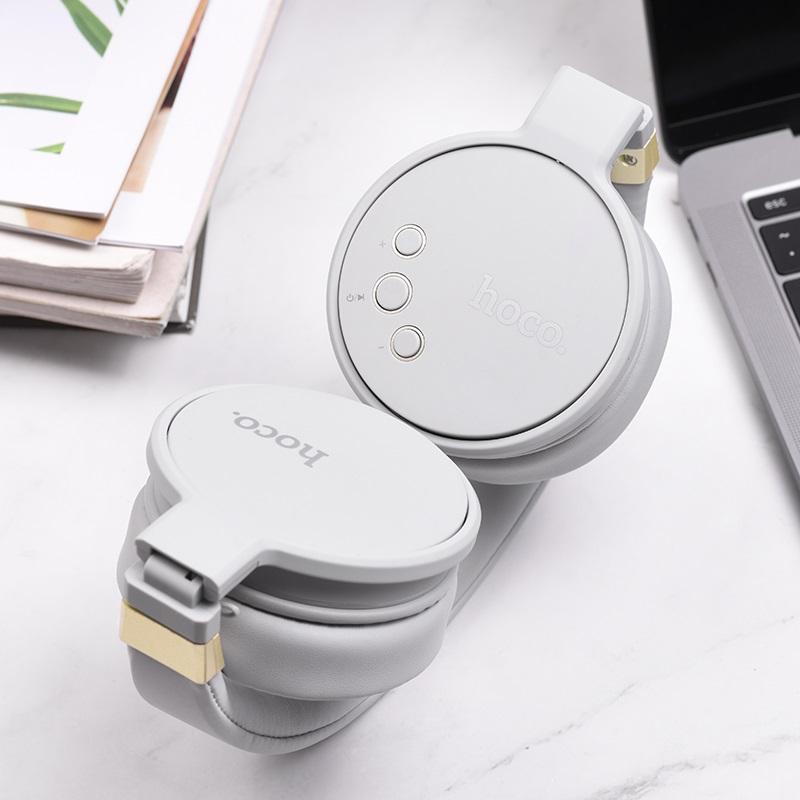 hoco w26 enjoyment wireless headphones interior gray