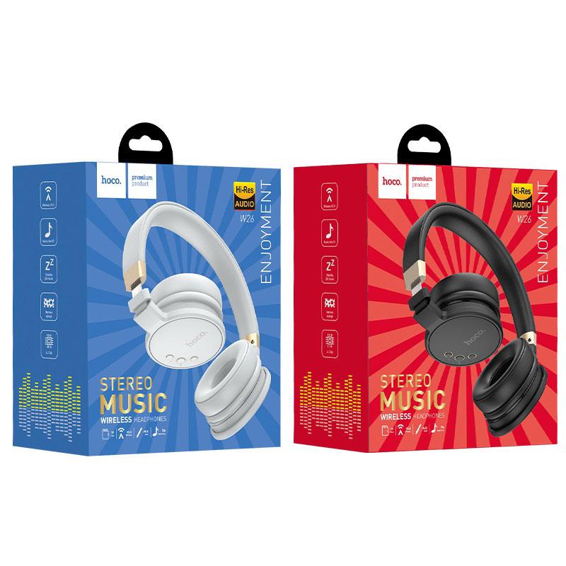 hoco w26 enjoyment wireless headphones packages