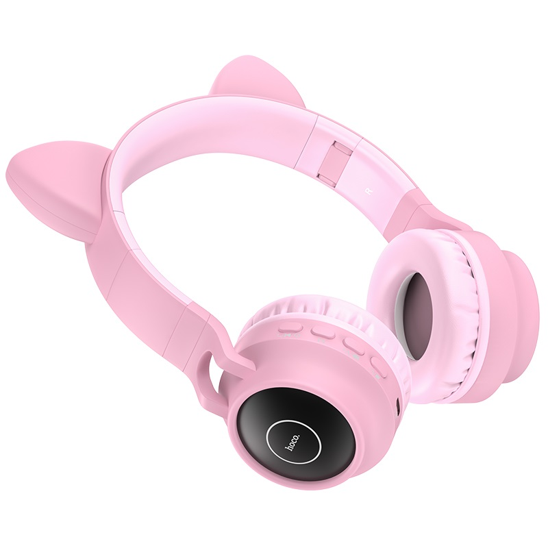 hoco w27 cat ear wireless headphones buttons