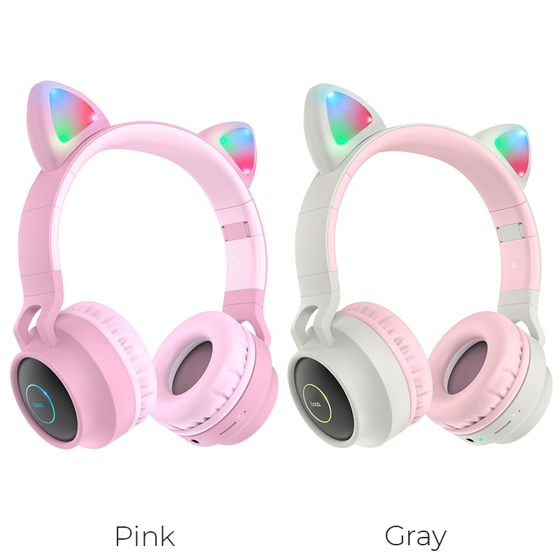 hoco w27 cat ear wireless headphones colors