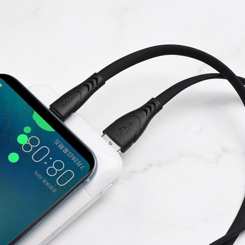 hoco x42 soft silicone charging cable for type c interior black