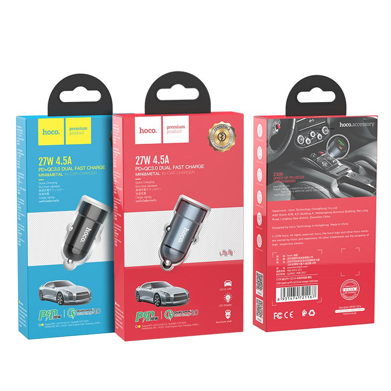 hoco z32b speed up pd qc30 car charger package