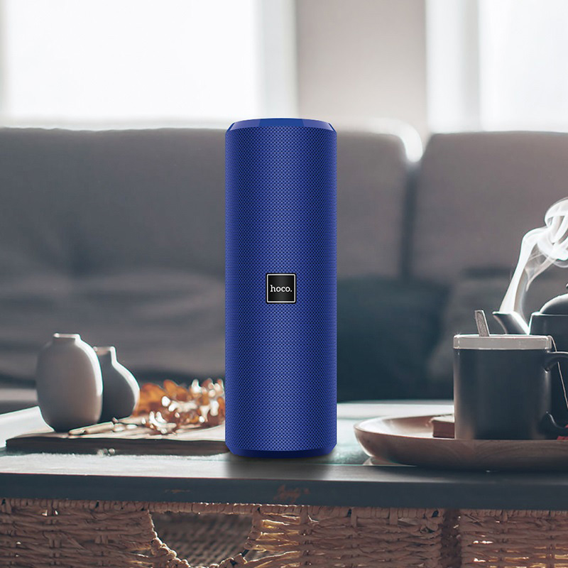 hoco bs33 voice sports wireless speaker interior blue
