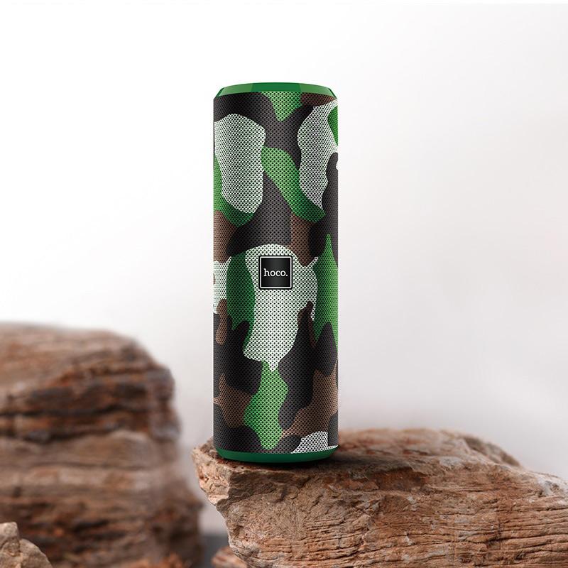 hoco bs33 voice sports wireless speaker interior camouflage green