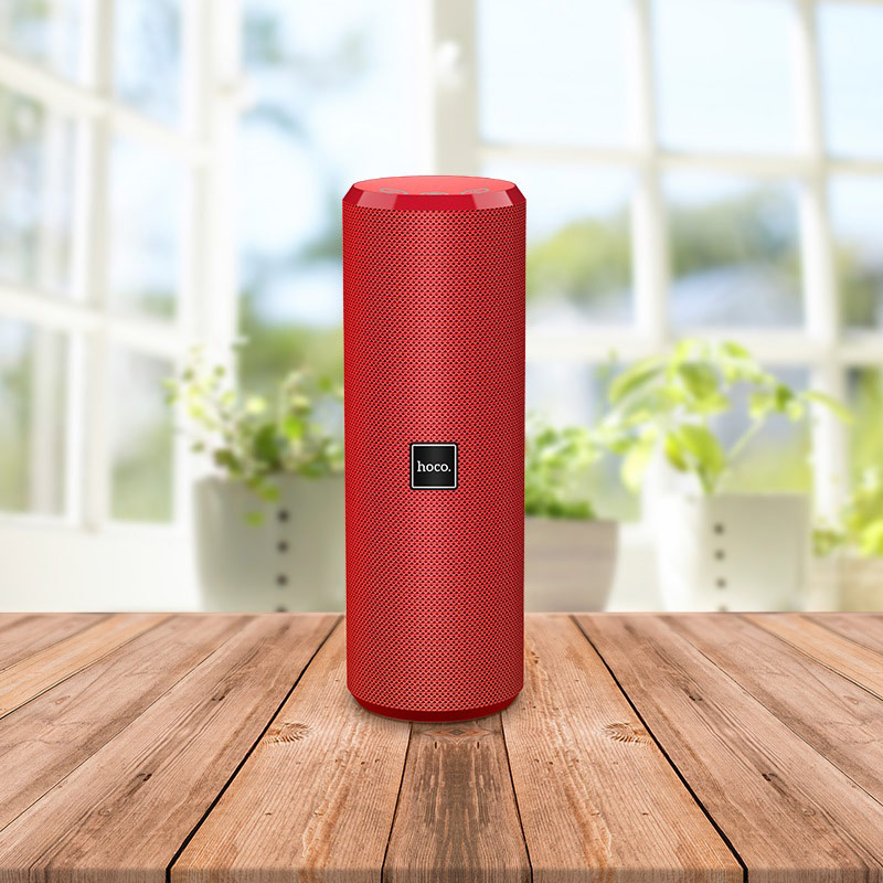 hoco bs33 voice sports wireless speaker interior red