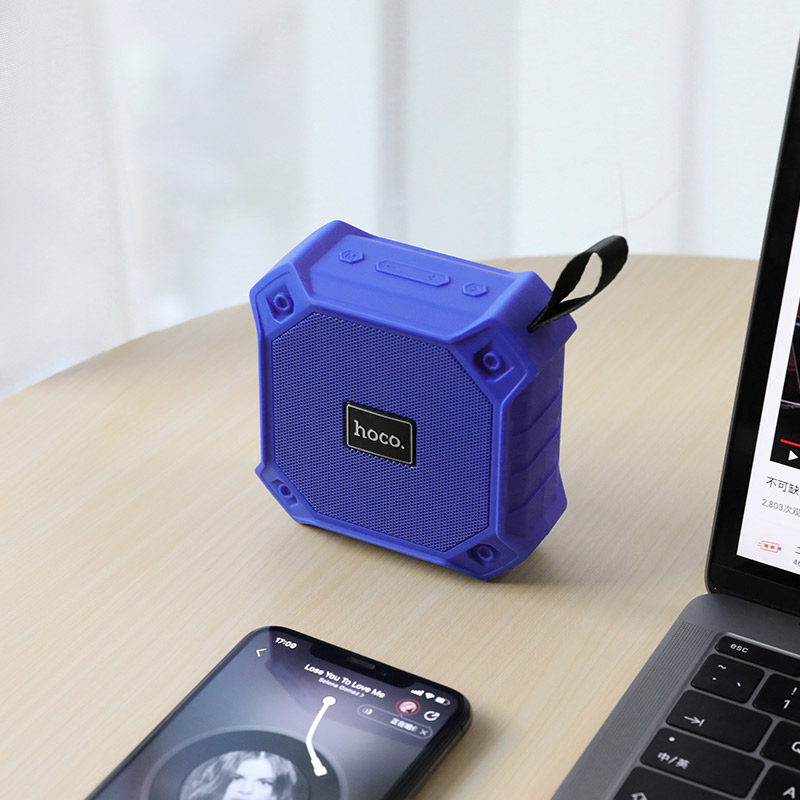 hoco bs34 wireless sports speaker interior blue