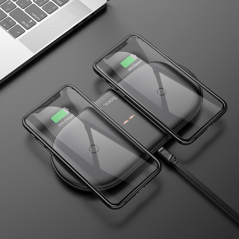 hoco cw23 dual power wireless fast charger charging