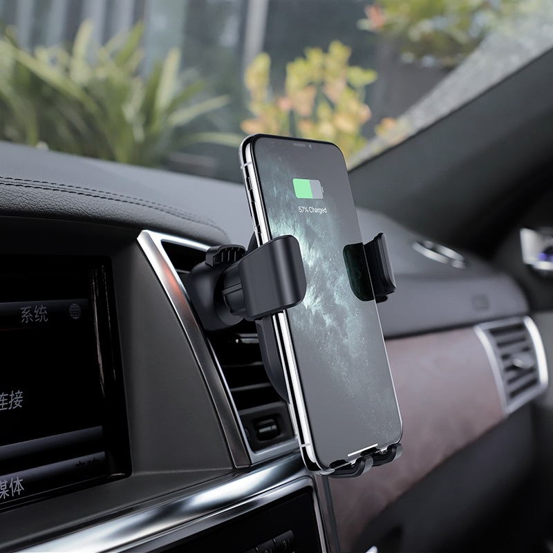 hoco cw25 delight in car wireless charging holder charge