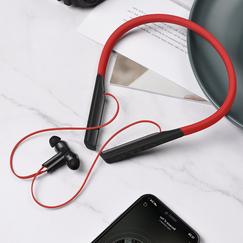 hoco es33 mirth sports wireless earphones interior red