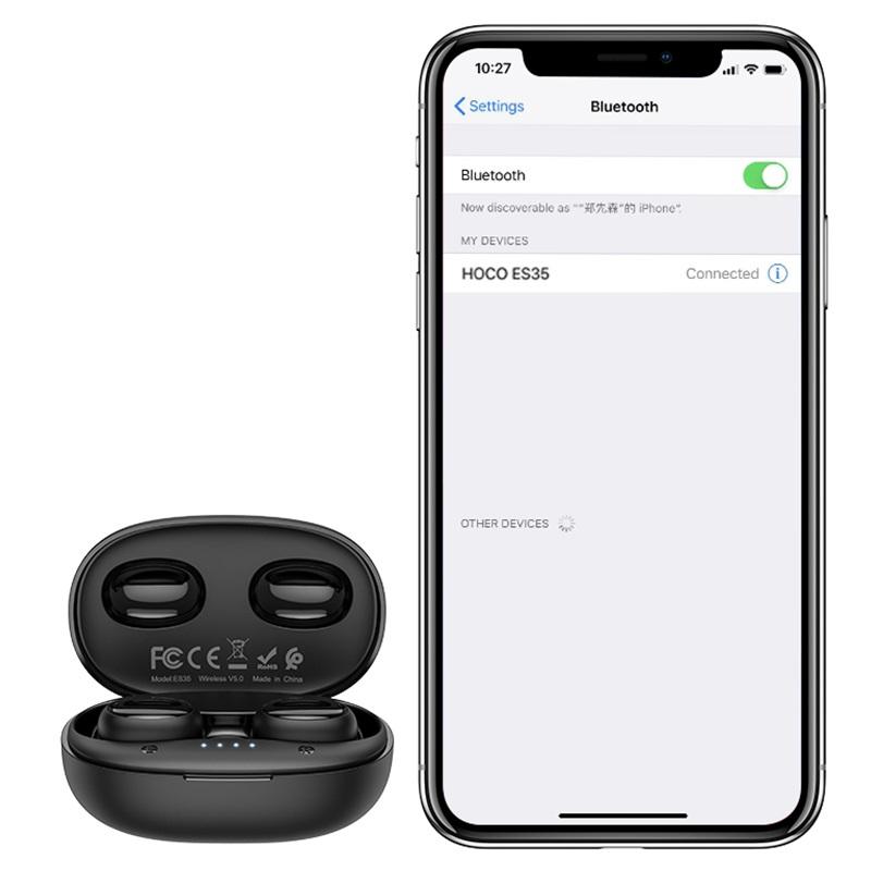 hoco es35 breezy wireless headset connection
