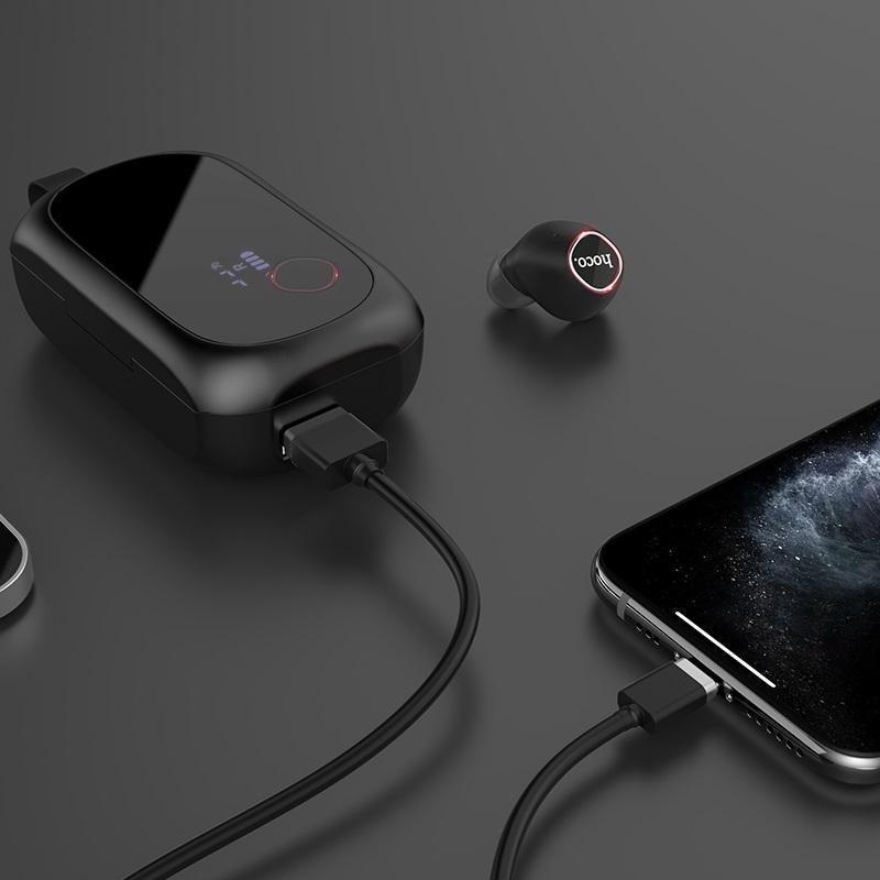hoco es37 treasure song wireless headset charging black
