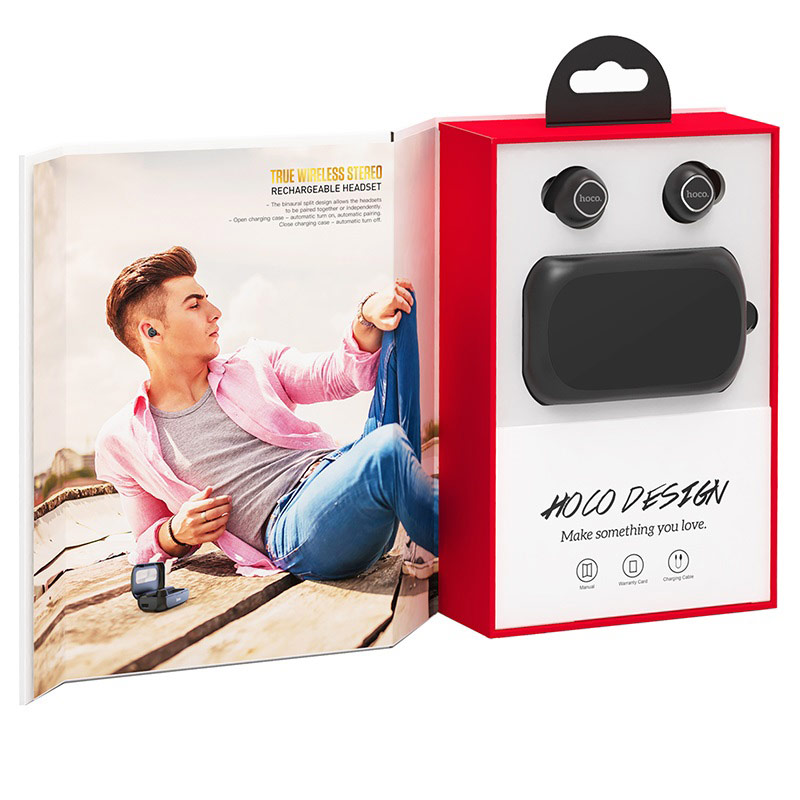 hoco es37 treasure song wireless headset opened package black