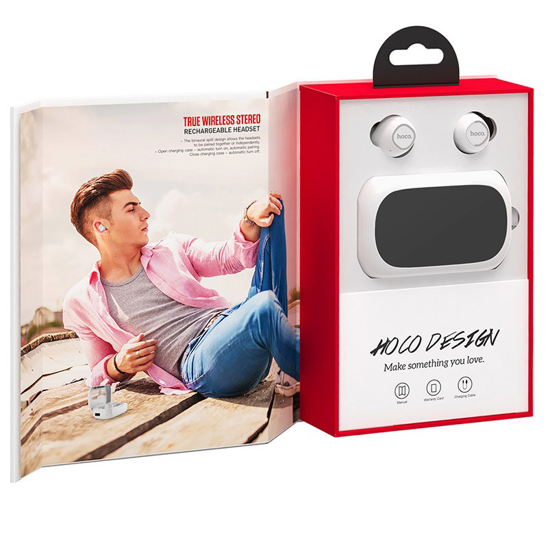 hoco es37 treasure song wireless headset opened package white