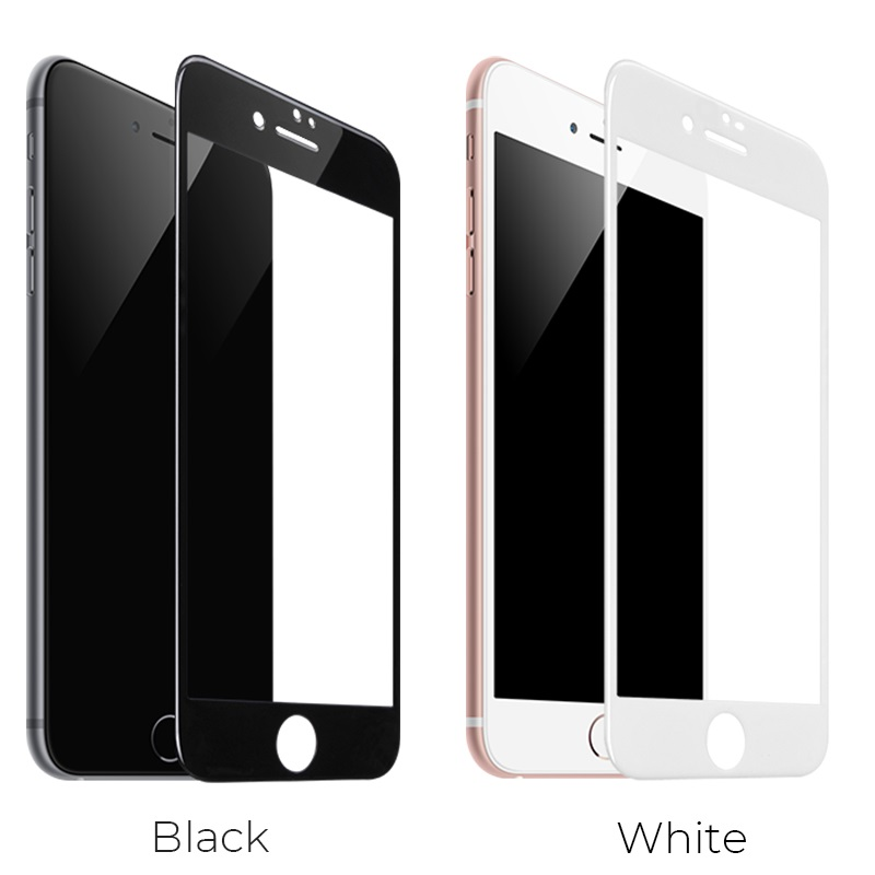 hoco full screen silk screen hd g5 tempered glass for iphone 7 8 plus 10pcs colors