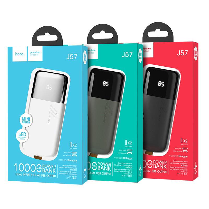 hoco j57 excellent nrg портативный аккумулятор 10000mah упаковки