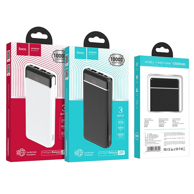 hoco j59 famous mobile power bank 10000mah packages