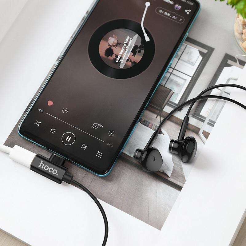 hoco l12 earl type c наушники с микрофоном и зарядным портом интерьер