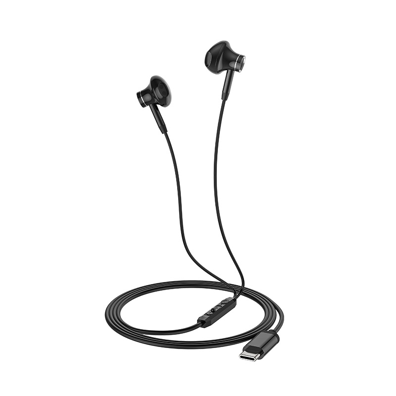 hoco l13 grandee type c digital wired earphones folded