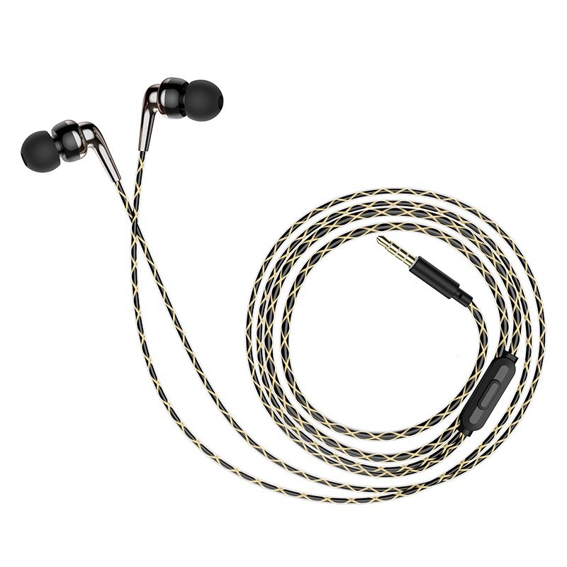 hoco m71 inspiring universal earphones with mic folded