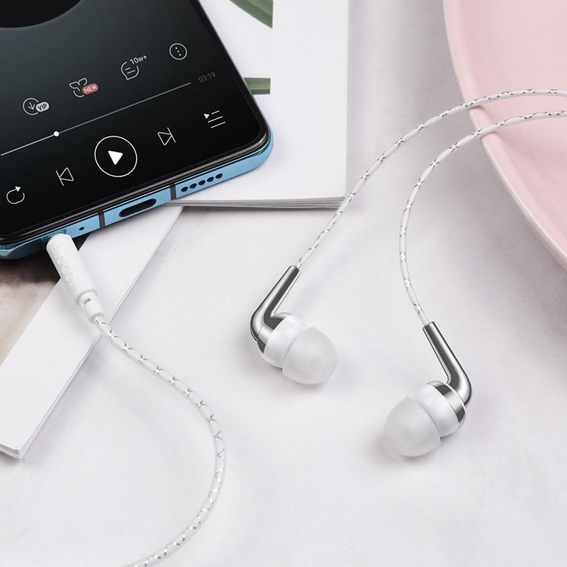 hoco m71 inspiring универсальные наушники с микрофоном интерьер белый