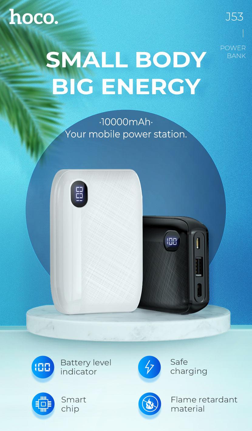 hoco news j53 exceptional mobile power bank 10000mah small en