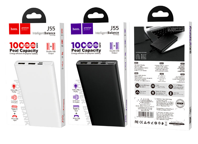 hoco news j55 neoteric mobile power bank 10000mah packages