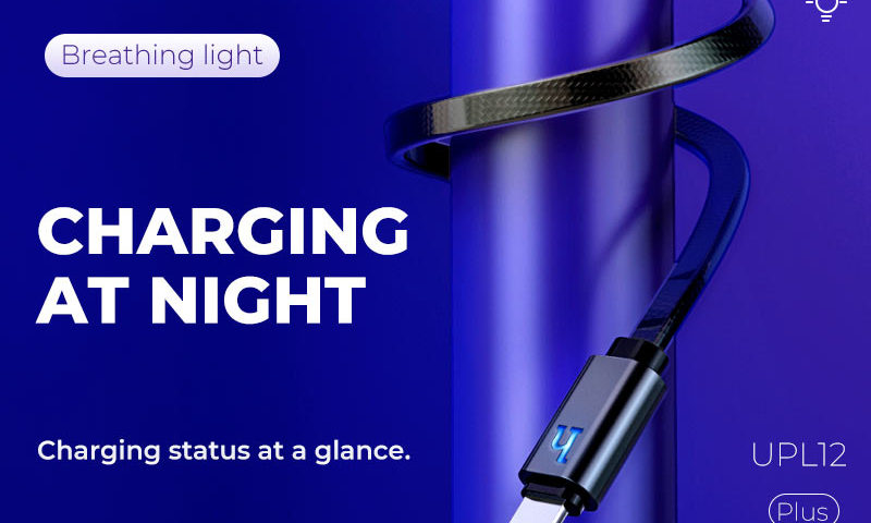 hoco news upl12 plus jelly braided charging data cable smart light banner en