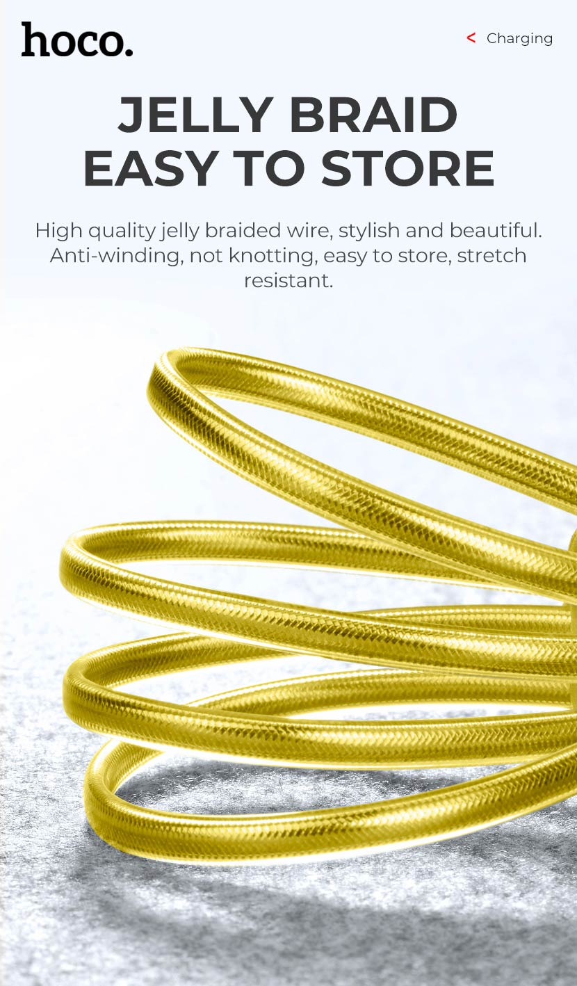 hoco news upl12 plus jelly braided charging data cable smart light braid en
