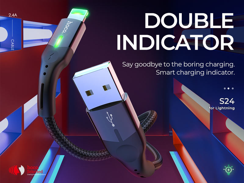 hoco selected news s24 celestial charging data lightning cable banner en