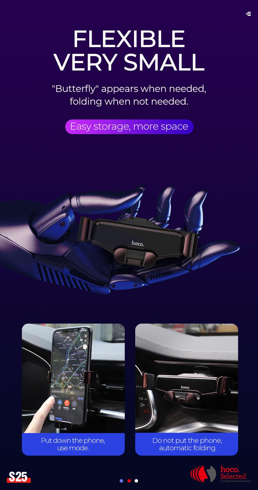 hoco selected news s25 guide gravity linkage car holder flexible en