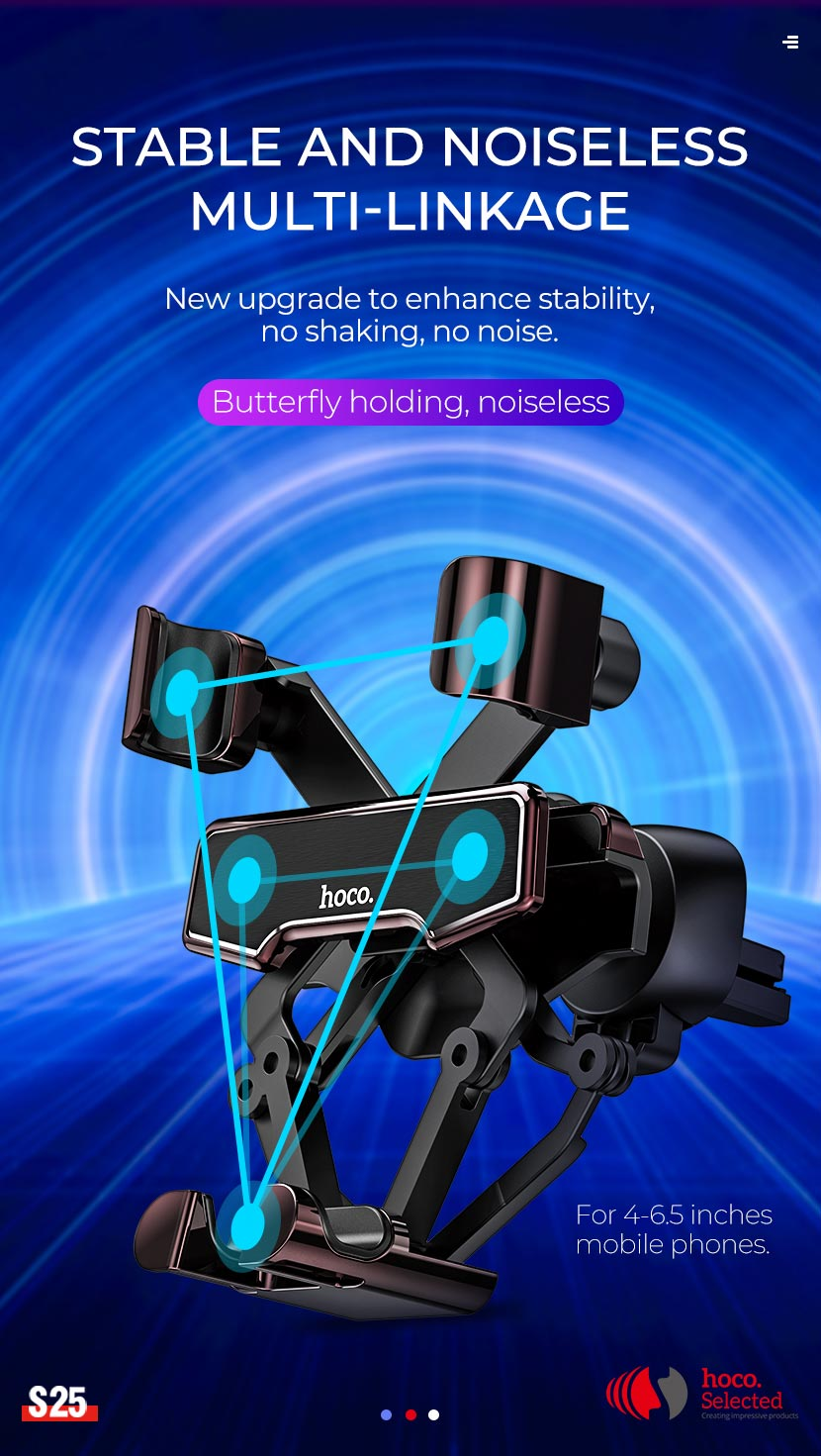 hoco selected news s25 guide gravity linkage car holder stable en