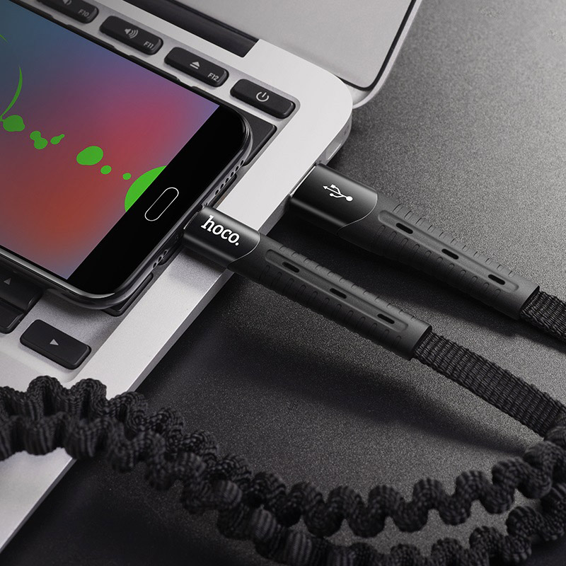hoco u78 cotton treasure эластичный зарядный дата кабель для micro usb интерьер