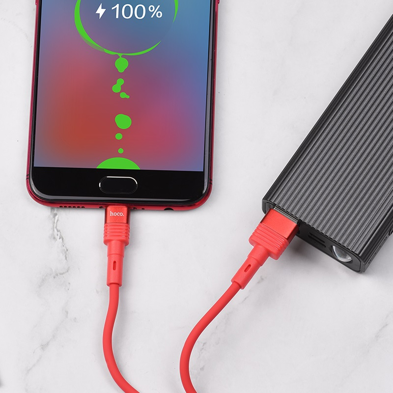 hoco u82 cool grace silicone charging data cable for micro usb charge