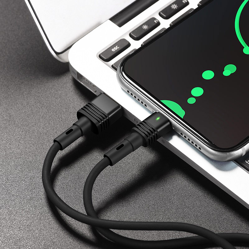 hoco u82 cool grace silicone charging data cable for micro usb transfer