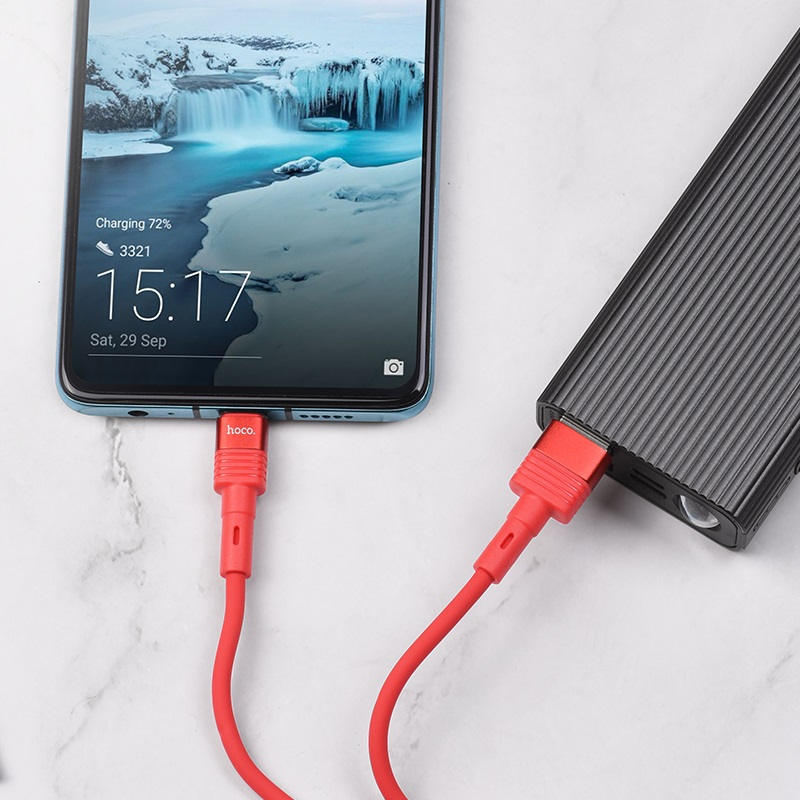 hoco u82 cool grace silicone charging data cable for type c charge