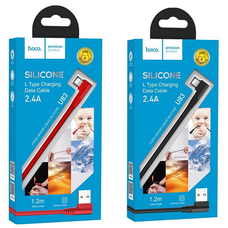 hoco u83 puissant зарядный дата кабель для lightning упаковки