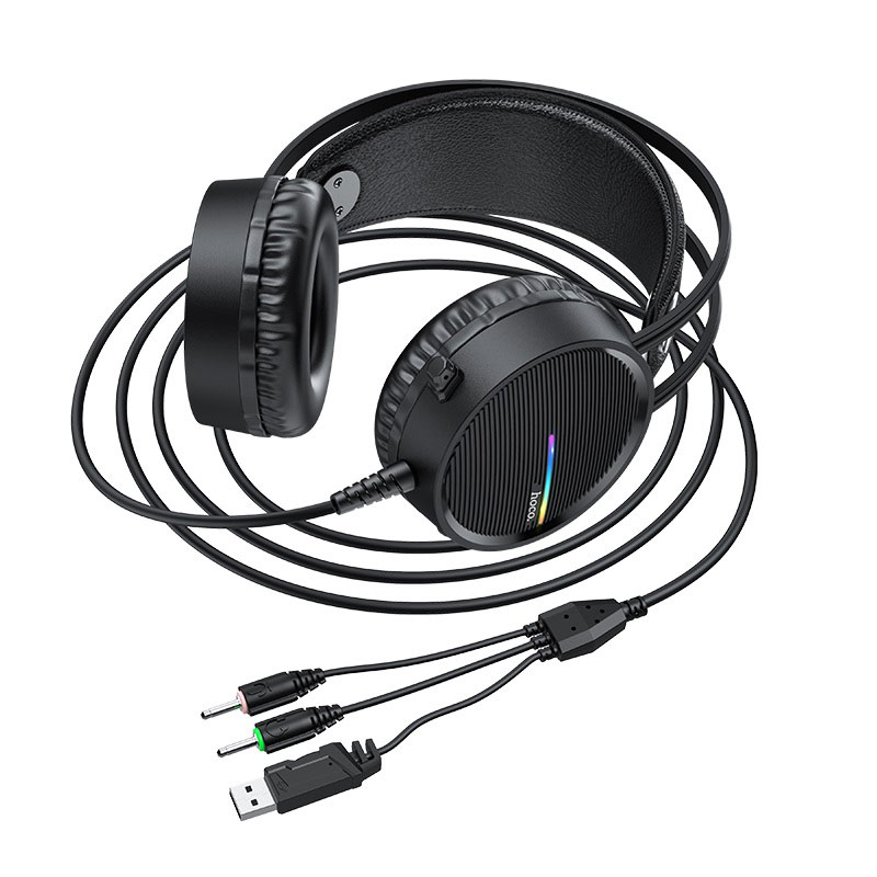 hoco w100 touring gaming headset overview