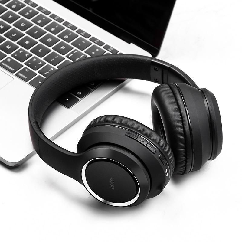 hoco w28 journey wireless headphones interior black
